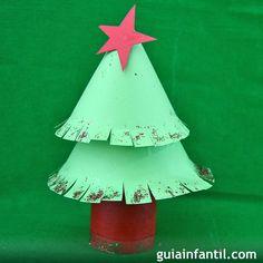 34395-arbol-de-navidad-de-carton-manualidades-de-reciclaje-para-ninos.jpg (1000×1000)