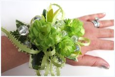 Faux Corsage - Wedding Corsage - Anniversary Corsage - Prom Corsage - Mother's Day Corsage - Lime Green Hops Corsage