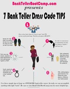 How to answer all difficult bank teller interview questions bank learn 7 bank teller dress codes tips land a new bank teller job fandeluxe Images
