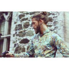 Ben Dahlhaus photo by Esra Sam Ben Dalhaus, Paisley, Man Dressing Style, Sexy Beard, Man Bun, Cover Model, Poses, Most Beautiful Man, Beard Styles