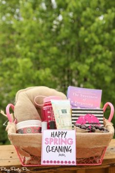 Love these tips for creating the perfect gift basket and how cute is that spring cleaning gift basket idea? I'd love to get that!
