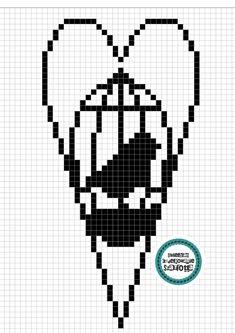 Thread Crochet, Filet Crochet, Crochet Doilies, Crochet Hearts, Heart Patterns, Cross Stitch Patterns, Cross Stitch Heart, Crochet Home Decor, Charts And Graphs