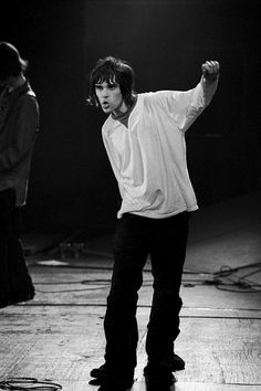 Iconic picture of Ian Brown of The Stone Roses