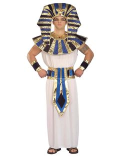 Get your King Tut groove on when you put on this fantastic Super Tut Adult Costume which features this fabulous headpiece, collar, tunic and coordinating belt