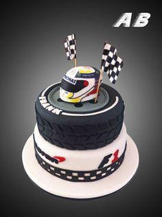 Kuchen Lewis Hamilton Mercedes - Holidays and events - Car Cakes For Men, Race Car Cakes, Men Cake, Fondant Cakes, Cupcake Cakes, Cupcakes, Renn Kuchen, Ferrari Cake, Racing Cake