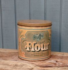 Vintage Flour Canister by theindustrycottage on Etsy
