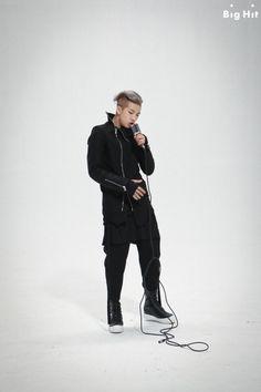 BTS on set Rap Monster's mixtape - Do You -  MV shoot