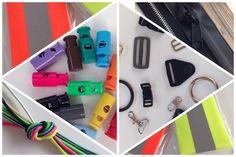 reflective tap, shock cord, waterproof zippers, cord stops