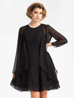 Wedding / Party/Evening Chiffon Coats/Jackets 3/4-Length Sleeve Wedding  Wraps - USD $ 25.99