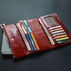 db3cb16b5 Largo cerrojo cartera de cuero el mejor regalo para ella en Carteras de  Bolsos y ...