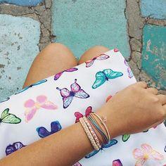 Costa a mano Bracelets® Pura Vida hechas de Pulseras embrague RicaMariposa wXqn0CI