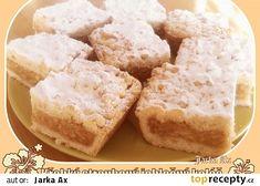 Křehký strouhaný jablečný koláč recept - TopRecepty.cz Krispie Treats, Rice Krispies, Sweet Recipes, Food And Drink, Cake, Apples, Pastel, Kuchen, Cakes