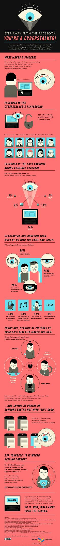 Facebook Stalking Statistics 2012 [Infographic]
