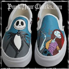 7079dede778b91 Nightmare Before Christmas Custom Hand Painted Vans by MAGCustoms Painted  Sneakers