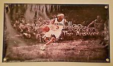 """Allen Iverson Philadelphia 76ers Vinyl Flag Picture Banner 20""""×36"""" NBA Man Cave"""