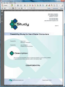 View Feasibility Study Sample Dealmaking Business Proposal