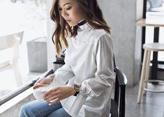 La Roche – http://tsangtastic.com   Instagram @tsangtastic  White shirt worn backwards. Black Marble watch by Cluse.