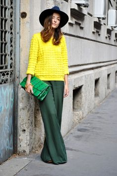 fall color blocking. love the colors + textures