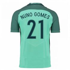 Portugal 2016 Nuno Gomes 21 Borte Drakt Kortermet.  http://www.fotballpanett.com/portugal-2016-nuno-gomes-21-borte-drakt-kortermet.  #fotballdrakter