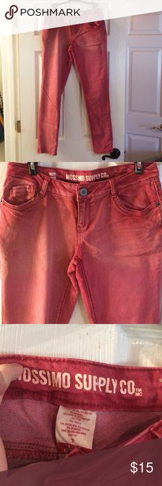 Red jeans Red/pink jeans. Target. Great condition. Worn once. Size 6-7 Skinny. Mossimo Supply Co. Pants Skinny