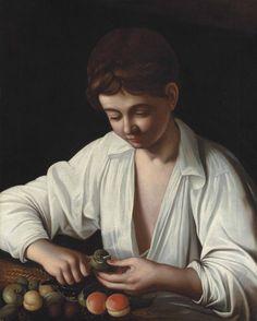 Michelangelo Merisi da Caravaggio (Milan or Caravaggio 1571-1610 Porto Ercole) Boy peeling a fruit
