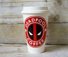 Deadpool Starbuck Style Cup  Custom Reusable by AHumboldtHeart