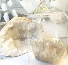 Split Quartz Crystal Geode Large