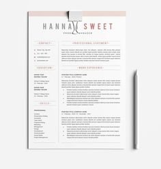 How To Create A Cover Letter Word Resume & Cover Letter Template  Pinterest  Template And .