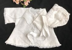 Excited to share this item from my shop: Vintage Baptism / Christening Jacket and Bonnet Set White Lace, Embroidered, Baby Girl Clothes vintagebaptism Vintage Baptism, Baby Girl Jackets, Vintage Baby Clothes, Purple Christmas, Vintage Children, Christening, White Lace, Doll Clothes, Kids Outfits