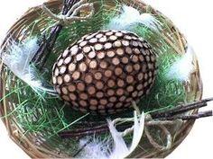 Vajíčka zdobená březovými větvičkami