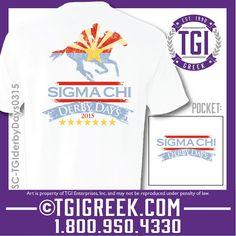 TGI Greek - Sigma Chi - Derby Days - Comfort Colors - Greek T-shirts - Philanthropy  #tgigreek #sigmachi #derbydays