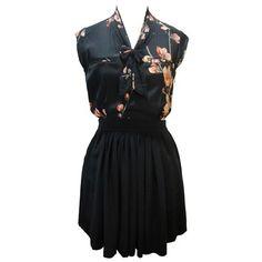 Robe imprimée fleurs noire - Dress Gallery | Brandalley