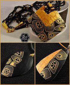 collage zlatočerné přívěšky | Blanka Procházková | Flickr
