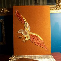Mid Century String Art Eagle on Cork by antfarm on Etsy, $50.00