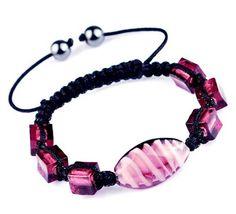 $1.99  45mm Rose Nylon Lampwork Hematite Bracelets Jewelry Gift
