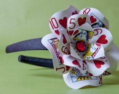 Queen of Hearts Poker Card Headband Fascinator