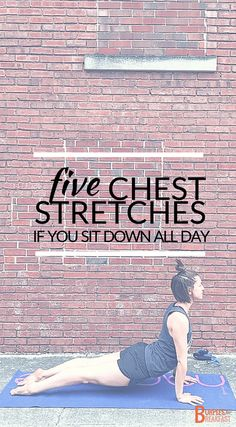 Looking for chest stretches to relieve tight muscles from sitting down all day!? If you are a desk sitter, it's likely you have tight chest muscles.