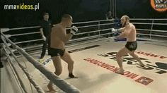 Adam Khaliev landing an improbable Matrix-like spinning kick, recently signed to the UFC.