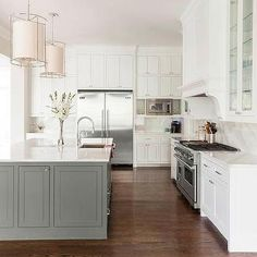 Cabinets Over Side by Side Refrigerators, Contemporary, Kitchen