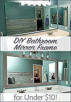 Badezimmerspiegelrahmen Diy Einfach Gunstig Mach Makeover