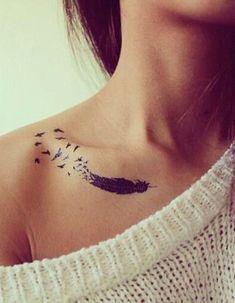 Best Small Tattoo Placement Ideas for Female – Tattoo Tattoo Platzierung, Unalome Tattoo, Bone Tattoos, Tattoo Motive, Tattoo Bird, Tattoo Neck, Arrow Tattoos, Tiny Tattoo, Tattoo Flash