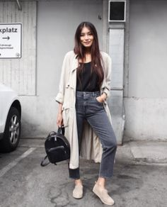 thaonhile wearing a Closed Denim