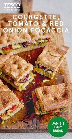 Try Jamie Oliver's focaccia recipe with tomato, courgette, red onion and pesto – it's the ideal healthy picnic food. Find healthy recipes at Tesco Real Food. Scottish Recipes, Turkish Recipes, Romanian Recipes, British Recipes, Healthy Picnic Foods, Healthy Food, Healthy Life, Healthy Eating, Vegan Dinners