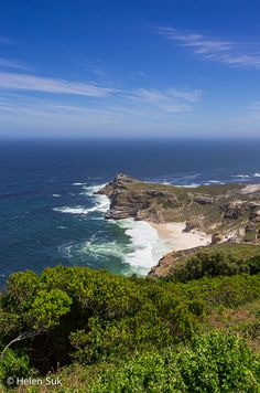 From Cape Town, take a scenic drive to Muizenberg Beach, Boulders Beach and the Cape of Good Hope for gorgeous scenery like this.