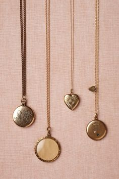 Anthro Collector's Lockets Perfect for a picture of my dad and I