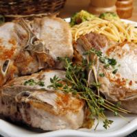 pork chop casserole, a great oven-baked dish with crispy french-fried onions and creamy soup.