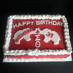 Delta Sigma Theta cake Check out the trunks. 40th Birthday Parties, Happy Birthday, What Is A Delta, Delta Sigma Theta Gifts, Delta Girl, Gifts For My Sister, 70th Anniversary, Sorority And Fraternity, Dessert