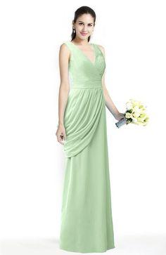 Glamorous V-neck Sleeveless Chiffon Pleated Plus Size Bridesmaid Dresses