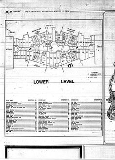 Randall Park Mall lower level directory 8/11/1976