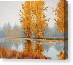 Golden Stillness Canvas Print by Graham Gercken. All canvas prints are professionally printed, assembled, and shipped within 3 - 4 business days and delivered ready-to-hang on your wall. Choose from multiple print sizes, border colors, and canvas materials.